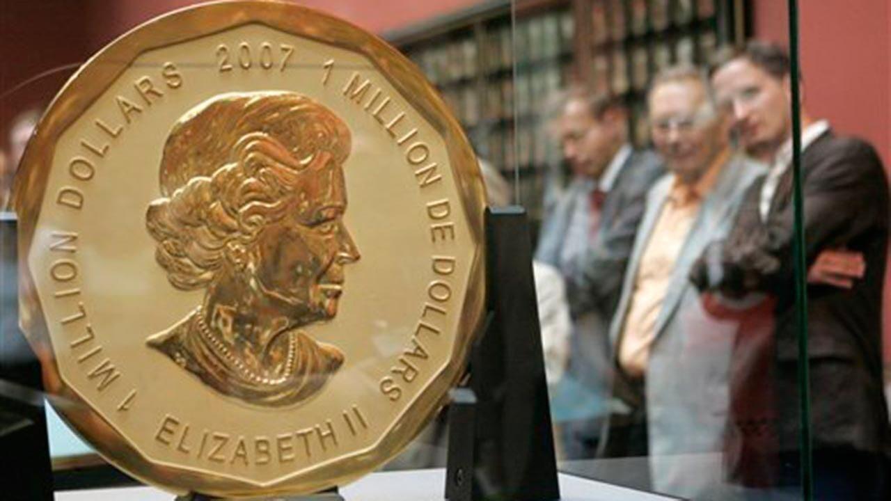 предстояло кража монеты весом 100 кг золота кажется