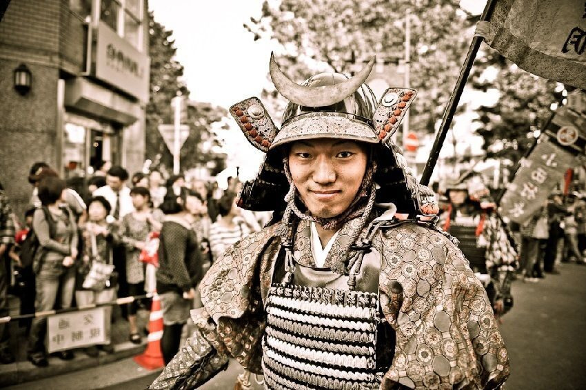 Samurai during a Parade
