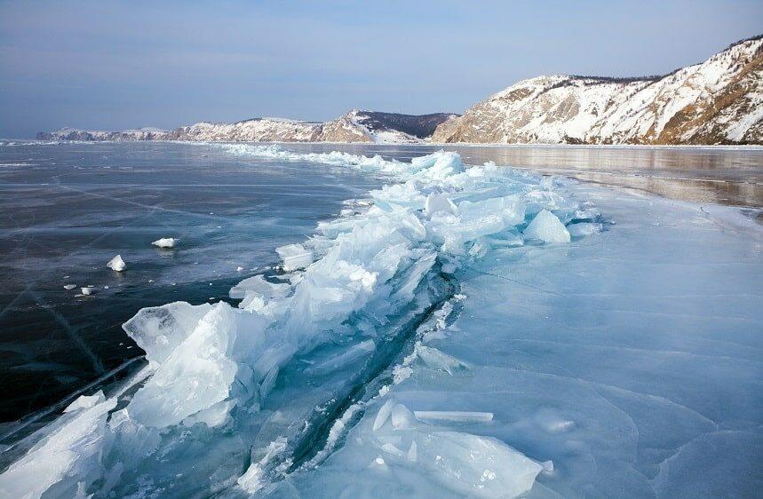 озеро Байкал зимой