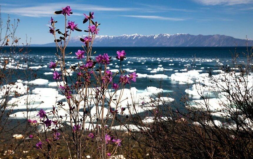 весна на озере Байкал