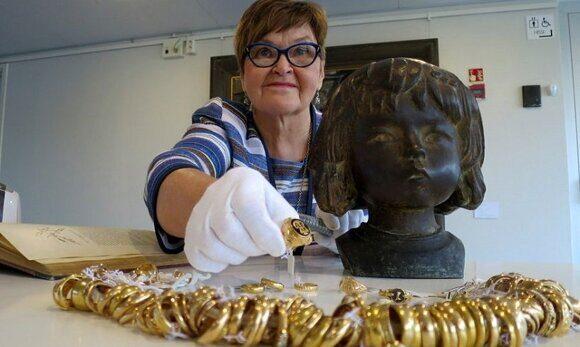 клад в скульптуре музея нашли в Финляндии