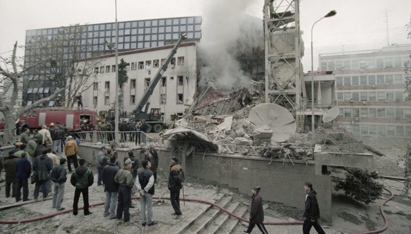 последствия бомбардировrb НАТО в Сербии
