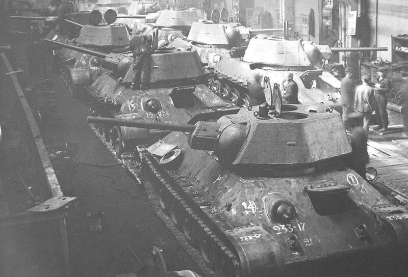 производство танков в ссср в годы войны