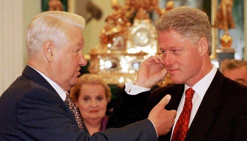Ельцин в США