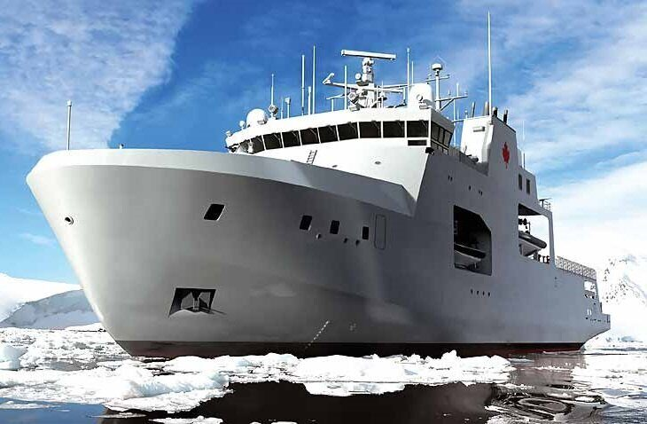 Канада ввела в строй первый новейший корабль арктического класса для ВМС страны