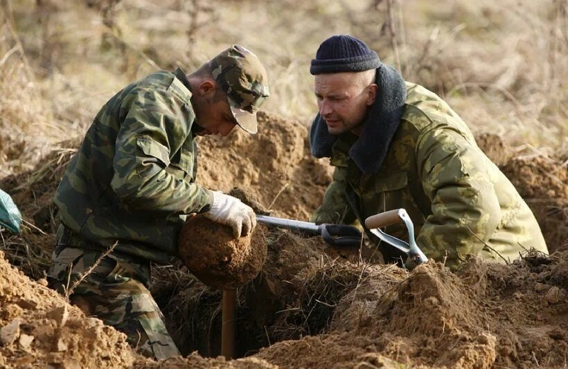В Белоруссии нашли останки более 40 военных
