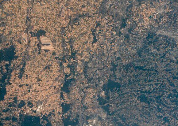 засуха в Европе снимки с МКС