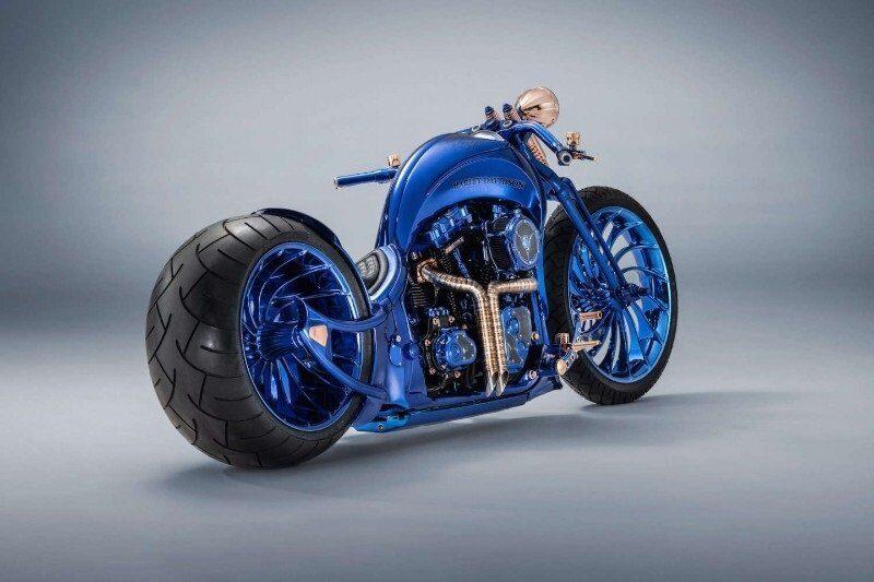 Harley-Davidson Blue Edition самый дорогой мотоцикл в мире
