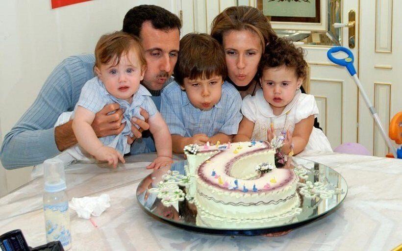 Башар Асад с семьей