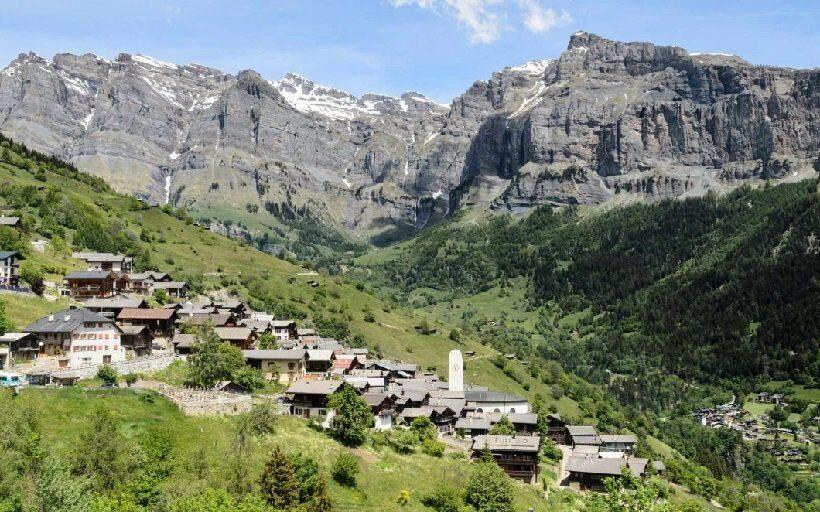 Швейцарская альпийская деревня Альбинен