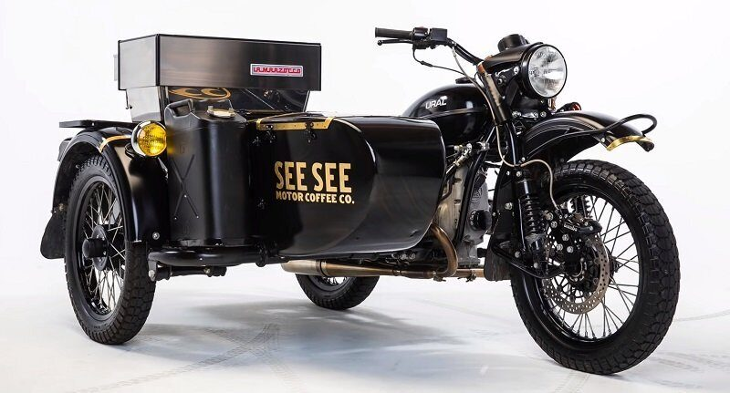 Мотоцикл Урал превратили в кофейню на колёсах
