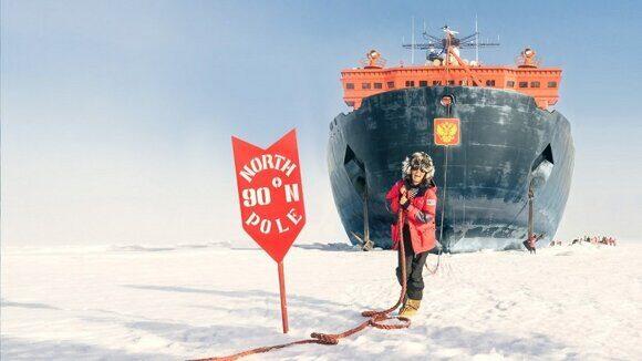 туристы из КНР посетили Северный полюс на российском атомном ледоколе в 2018 году
