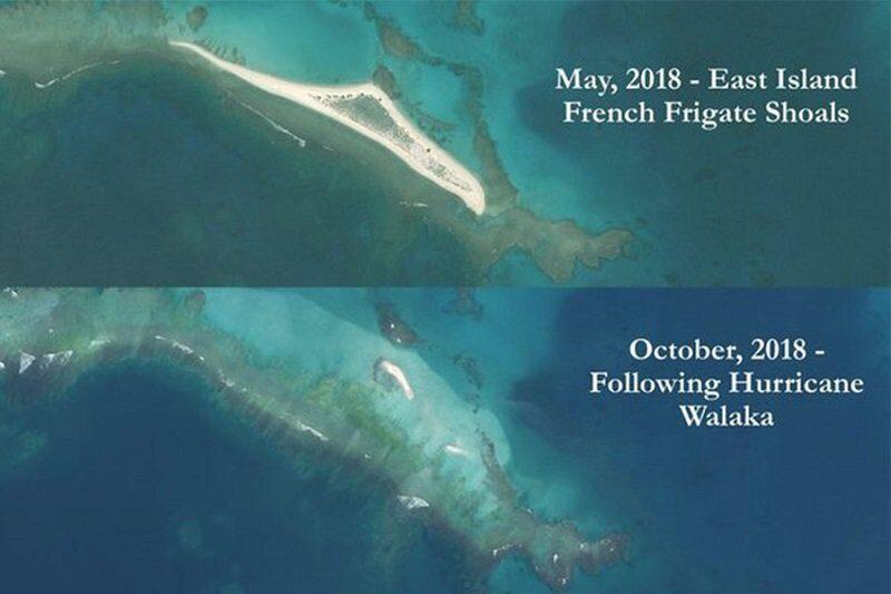 Остров на Гавайях исчез под водой после урагана