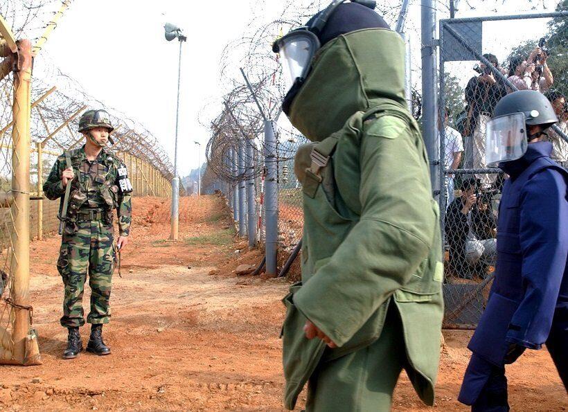 минные поля между Северной и Южной Кореями разминирование