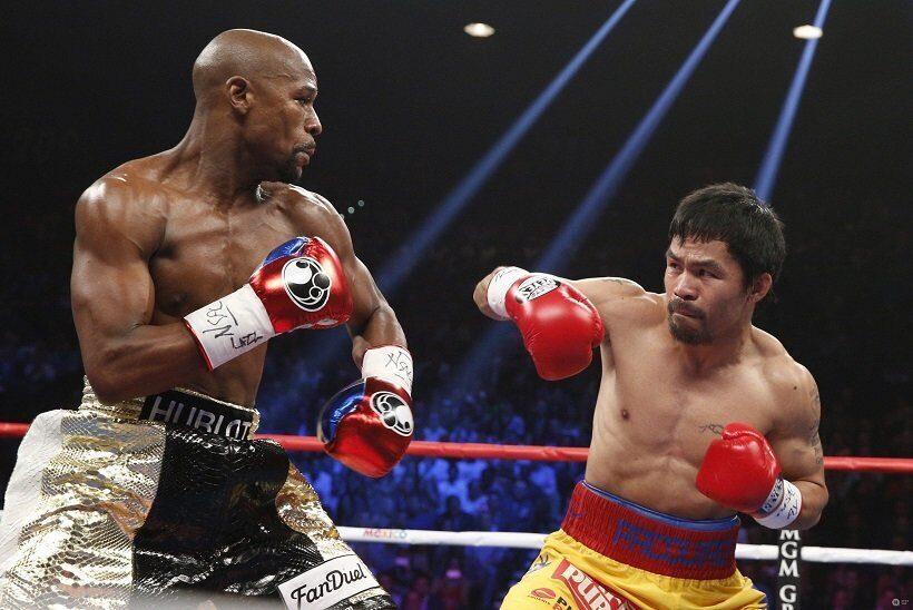 Floyd Mayweather Jr. and Manny Pacquia