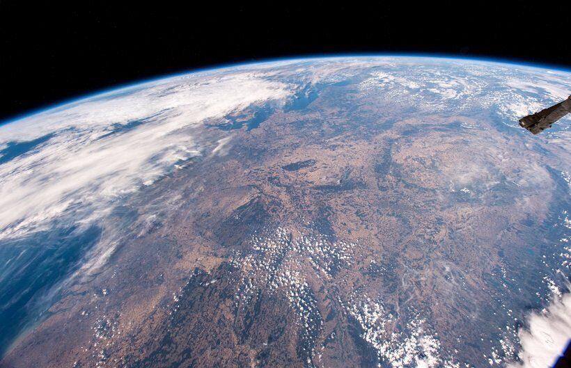 засуха в Европе вид с космоса