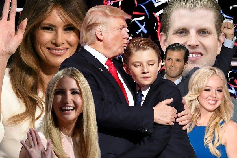 давно фотографии семьи дональда трампа шагать