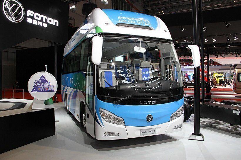 В Шанхае появились первые работающие на водородном топливе автобусы