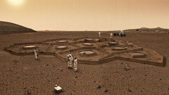 Первую обитаемую базу Марса нужно построить на его полюсе