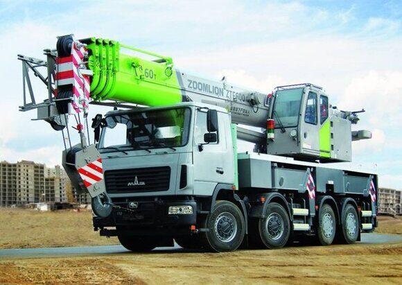 Автомобильный кран с рекордной грузоподъемностью 60 тонн