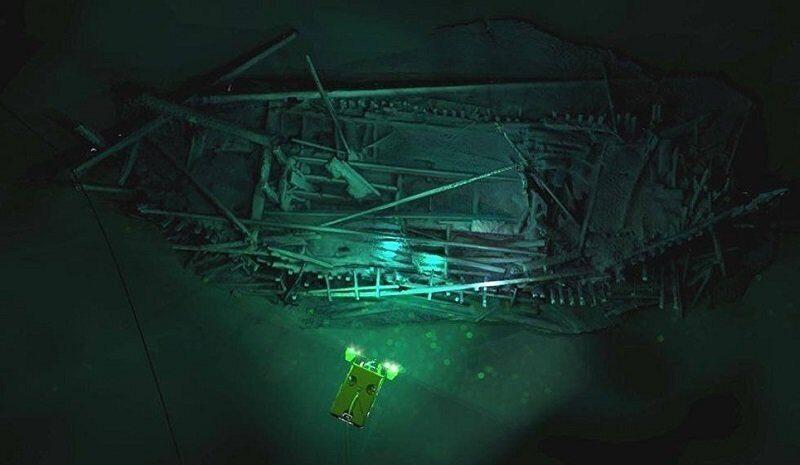 Затонувший более 2 тысяч лет назад корабль нашли на дне Черного моря