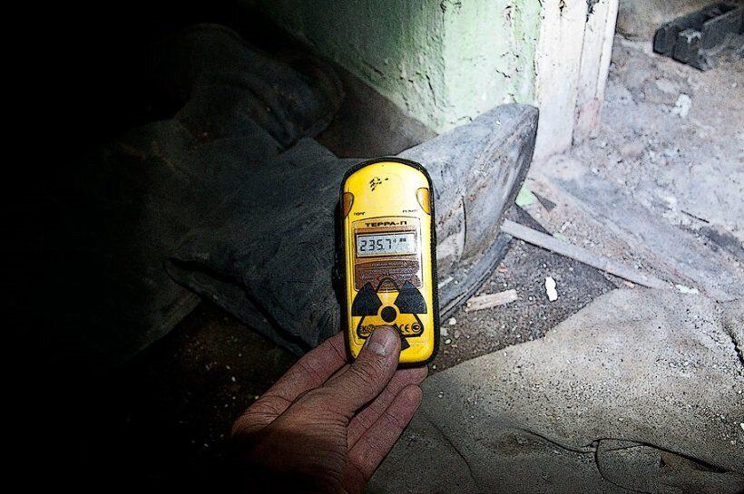 радиация в подвале в Припяти